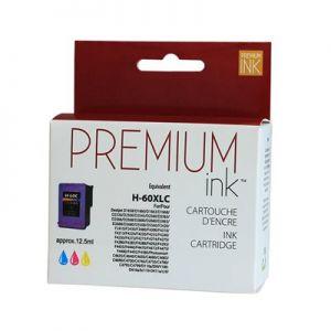 Cartouche d'encre HP 60XL CC644WN Tricolore Réusinée